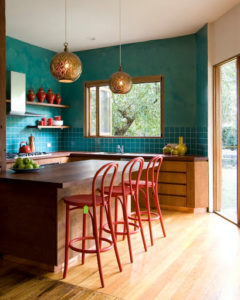 кухня в стиле минимализм и эклектика